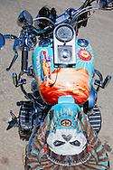Motorcycle in Manzanillo, Granma, Cuba.
