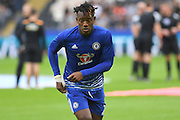 Chelsea forward Michy Batshuayi (23)  during warm up before the Premier League match between Hull City and Chelsea at the KCOM Stadium, Kingston upon Hull, England on 1 October 2016. Photo by Ian Lyall.