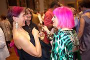 SILVIA ZIRANEK; ZANDRA RHODES, Tate Britain Summer party. Tate. Millbank. 27 June 2011. <br /> <br />  , -DO NOT ARCHIVE-© Copyright Photograph by Dafydd Jones. 248 Clapham Rd. London SW9 0PZ. Tel 0207 820 0771. www.dafjones.com.