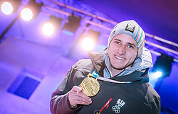 27.02.2018, Salzburg, AUT, PyeongChang 2018, ÖOC Medaillenfeier, im Bild Matthias Mayer // during a ÖOC medal celebration Party after the Olympic Winter Games Pyeongchang 2018 in Salzburg, Austria on 2018/02/27. EXPA Pictures © 2018, PhotoCredit: EXPA/ JFK