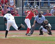 Nebraska's Jake Opitz (3) waits on Kansas State's Adam Cowart's pitch.  Nebraska held on to be Kansas State 5-4 at Tointon Stadium in Manhattan, Kansas, April 1, 2006.