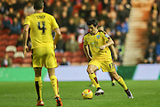 Burnley midfielder Joey Barton  during the Sky Bet Championship match between Middlesbrough and Burnley at the Riverside Stadium, Middlesbrough, England on 15 December 2015. Photo by Simon Davies.