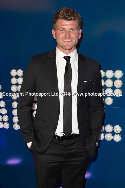Corey Anderson at the ANZ New Zealand Cricket Awards 2015 Dinner, Langham Hotel, Auckland, New Zealand,  Wednesday, April 01, 2015. Copyright photo: David Rowland / www.photosport.co.nz