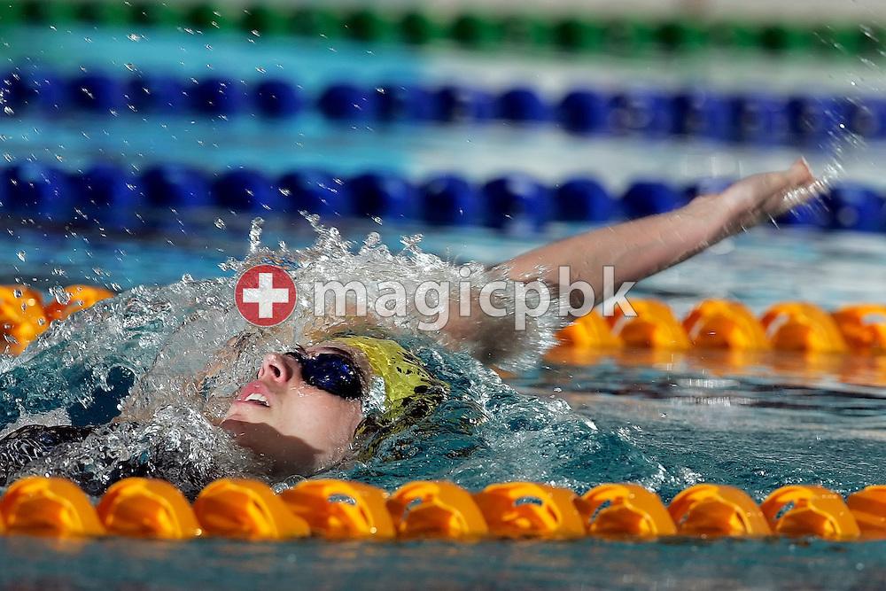 SCSH's Marina RIBI of Switzerland swims the backstroke leg in the women's 200m Individual Medley (IM) final at the Swiss Swimming Championships in Zurich (Zuerich) Oerlikon, Switzerland, Sunday, March 22, 2009. (Photo by Patrick B. Kraemer / MAGICPBK)