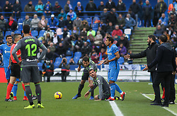 December 15, 2018 - Getafe, Madrid, Spain - Theo Hernandez of Real Sociedad in action during La Liga Spanish championship, , football match between Getafe and Real Sociedad, December 15, in Coliseum Alfonso Perez in Getafe, Madrid, Spain. (Credit Image: © AFP7 via ZUMA Wire)