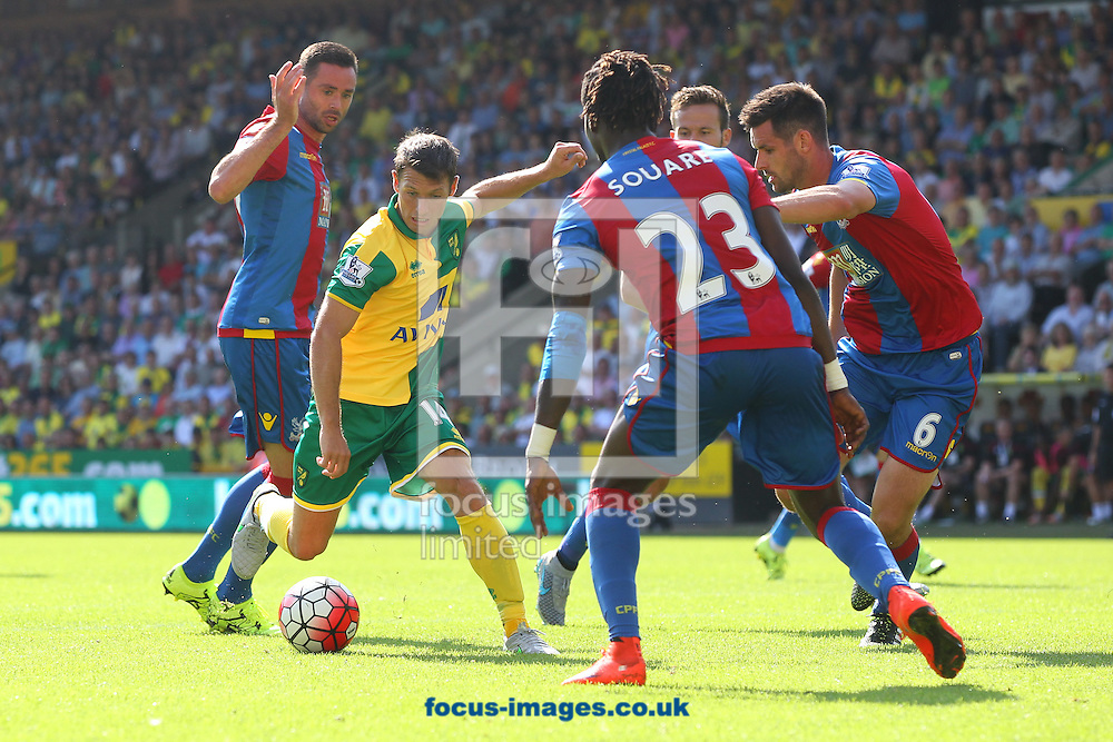 Wes Hoolahan of Norwich in action during the Barclays Premier League match at Carrow Road, Norwich<br /> Picture by Paul Chesterton/Focus Images Ltd +44 7904 640267<br /> 08/08/2015