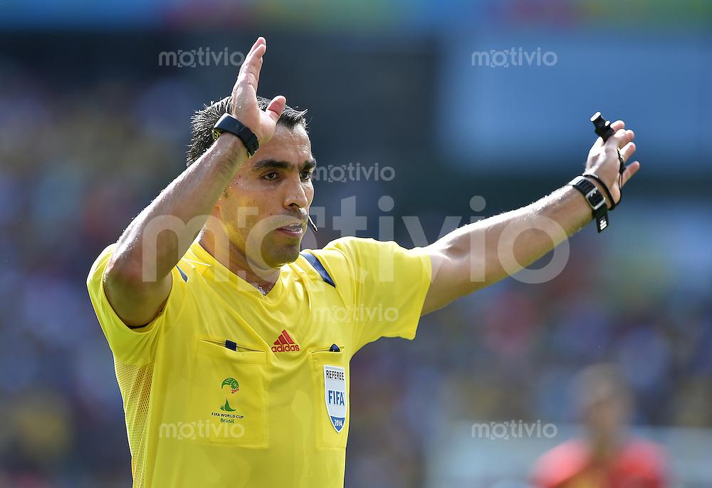 FUSSBALL WM 2014  VORRUNDE    Gruppe H     Belgien - Algerien                       17.06.2014 Schiedsrichter Marco Rodriguez