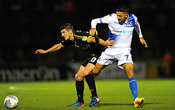 Liam Sercombe of Bristol Rovers applies pressure on Jake Gray of Yeovil Town- Mandatory by-line: Nizaam Jones/JMP - 09/10/2018 - FOOTBALL - Memorial Stadium - <br /> Bristol, England - Bristol Rovers v Yeovil Town - Checkatrade Trophy