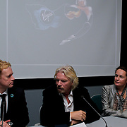 NLD/Den Haag/20111114 - Perslunch Virgin Galactic iav Sir Richard Branson, Rob Andeweg