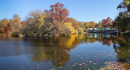 The Lake with the Boathouse restaurant in Central Park