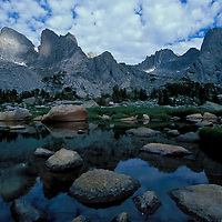Pingora Peak (r). Cirque of the Towers. Wind River Wilderness Area, Wyoming.