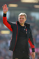 Football - 2016 / 2017 Premier League - AFC Bournemouth vs. Burnley<br /> <br /> Bournemouth's Manager Eddie Howe waves to the Bournemouth support on there lap of honour after the final home game of the season at the Vitality Stadium (Dean Court) Bournemouth<br /> <br /> COLORSPORT/SHAUN BOGGUST