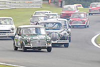 HSCC Gold Cup Oulton Park, Cheshire, United Kingdom.  28th-29th August 2011.  Race 11 HSCC ByBox Historic Touring Cars.  84 Roger Phillips -  Austin Mini Cooper. World Copyright: Peter Taylor/PSP. Copy of publication required for printed pictures. Every used picture is fee-liable..