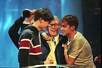 Blur and Vic Reeves, The BRIT Awards 1995 <br /> Monday 20 Feb 1995.<br /> Alexandra Palace, London, England<br /> Photo: JM Enternational
