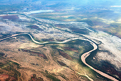 An aerial perspective of the Fitzroy River floodplain.