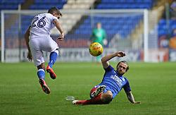 Jack Marriott tackles Gareth Evans of Portsmouth - Mandatory by-line: Joe Dent/JMP - 21/11/2017 - FOOTBALL - ABAX Stadium - Peterborough, England - Peterborough United v Portsmouth - Sky Bet League One