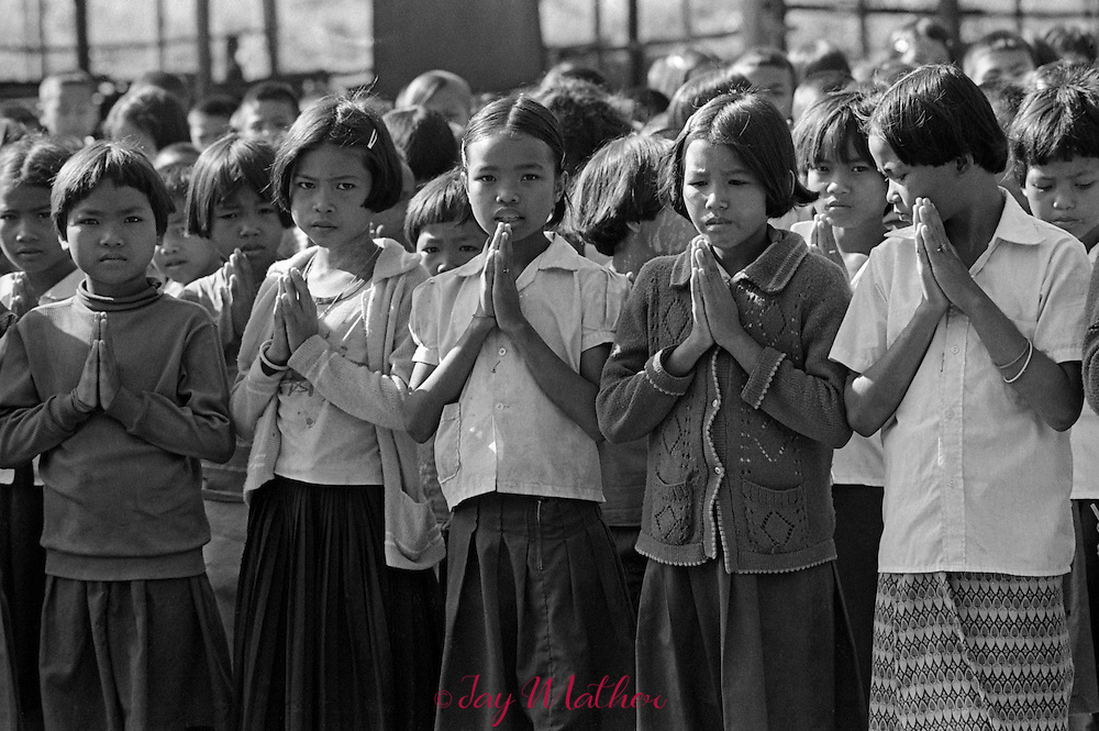 Cambodian refugees made their way to the refugee camps spread along the Thailand/Cambodian border as North Vietnamese army was overthrowing the Khmer Rouge regime that was responsible for the genocide of 1.7 million citizens between 1975 and 1979.  An American emergency room physician from Louisville, Kentucky, Dr. Kenneth Rasmussen, joined the International Red Cross and was working in a clinic to help the sick and dying and also provided assistance and counseling for refugees relocating to other countries.  He and his wife were also sponsoring a Cambodian family, Sot and Saot Oung and their children resettling in the United States.
