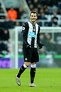 Javi Manquillo (#19) of Newcastle United during the Premier League match between Newcastle United and Southampton at St. James's Park, Newcastle, England on 8 December 2019.