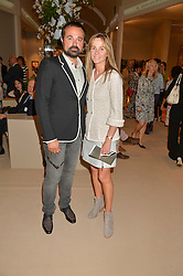 EVGENY LEBEDEV and VISCOUNTESS ROTHERMERE at the private preview of Masterpiece 2015 held at the Royal Hospital Chelsea, London on 24th June 2015.