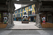 Panda Creativity street in Dujiangyan city, Sichuan Province, China