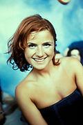 Woman smiling, Ibiza 1999