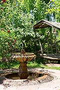 Garden space at Jardin Bio Aromatique Nectarome, Ourika Valley, Morocco