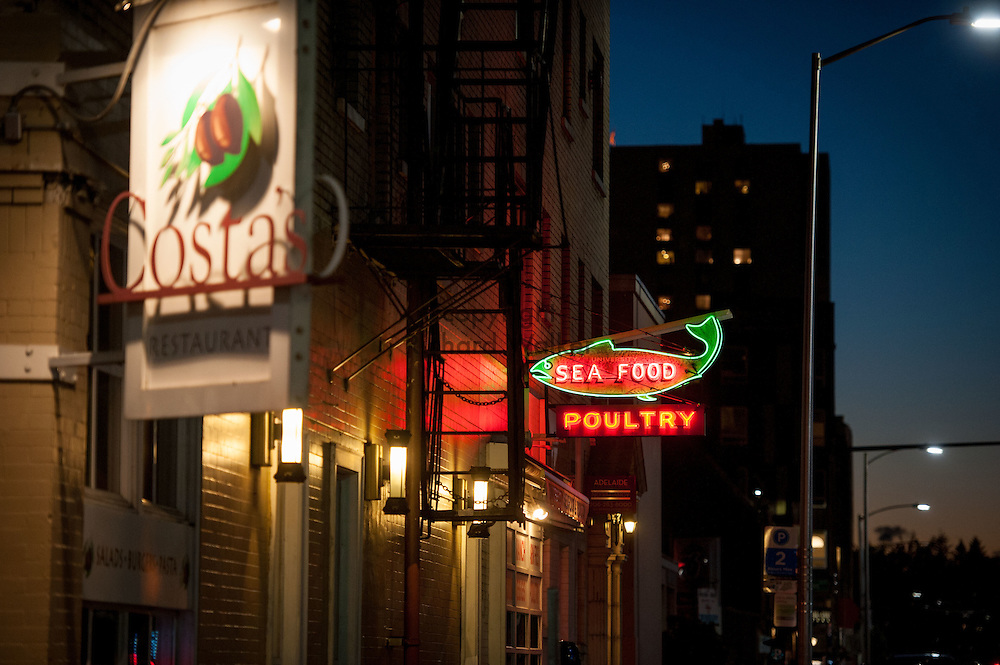 2016 October 10 - University Seafood and Poultry, in the University District, Seattle, WA, USA. By Richard Walker