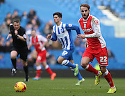 Birmingham City's Andrew Shinnie during the Sky Bet Championship match between Brighton and Hove Albion and Birmingham City at the American Express Community Stadium, Brighton and Hove, England on 21 February 2015. Photo by Phil Duncan.
