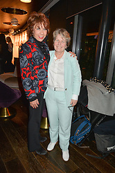Left to right, KATHY LETTE and SANDI TOKSVIG at a party to celebrate the Astley Clarke & Theirworld Charitable Partnership held at Mondrian London, Upper Ground, London on 10th March 2015.
