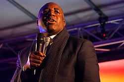 London, UK. 15th January, 2019. David Lammy, Labour MP for Tottenham, addresses pro-EU activists attending a People's Vote rally in Parliament Square as MPs vote in the House of Commons on Prime Minister Theresa May's proposed final Brexit withdrawal agreement.