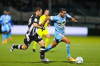 Chahir BELGHAZOUANI / Vincent MANCEAU  - 26.01.2015 - Angers / Brest - 21eme journee de Ligue 2 -<br /> Photo : Vincent Michel / Icon Sport