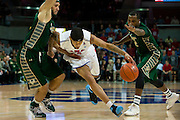 DALLAS, TX - JANUARY 15: Keith Frazier #4 of the SMU Mustangs drives to the basket against the South Florida Bulls on January 15, 2014 at Moody Coliseum in Dallas, Texas.  (Photo by Cooper Neill/Getty Images) *** Local Caption *** Keith Frazier