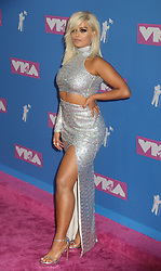 August 20, 2018 - New York City, New York, U.S. - Singer BEBE REXHA attends the arrivals for the 2018 MTV 'VMAS' held at Radio City Music Hall. (Credit Image: © Nancy Kaszerman via ZUMA Wire)