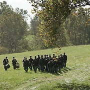 as reenactors prepare for the Battle of Perryville, which serves as the national Civil War reenactment for 2006, at the Perryville Battlefield in Perryville, Ky. on Oct. 6, 2006. On Saturday and Sunday, thousands of soldiers will reenact three battles which took place David Stephenson/Staff