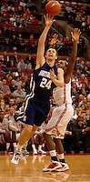John Shurna #24 of the Northwestern Wildcats puts up a shot during the first half of an NCAA college basketball game on Dec. 28, 2011 at Value City Arena in Columbus, Ohio.