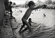 Swimming near Trinidad, Cuba