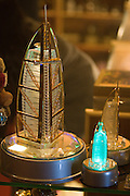 Jumeirah, Burj Al Arab, the World's most luxurious hotel. Glowing souvenirs.