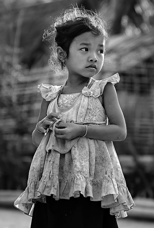 A Khamu girl near Nong Kiau, Laos.