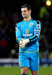 Thomas Heaton of Burnley - Mandatory by-line: Robbie Stephenson/JMP - 31/01/2017 - FOOTBALL - Turf Moor - Burnley, England - Burnley v Leicester City - Premier League