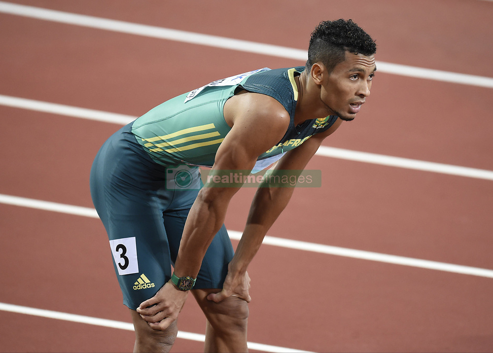 August 10, 2017 - Londres, Angleterre - LONDON , UNITED KINGDOM  - AUGUST 10 :  Wayde Van Niekerk during 200 m final at the16th IAAF World Athletics championships from august 4 till 13, 2017 in London ,United Kingdom, 09/08/2017 (Credit Image: © Panoramic via ZUMA Press)