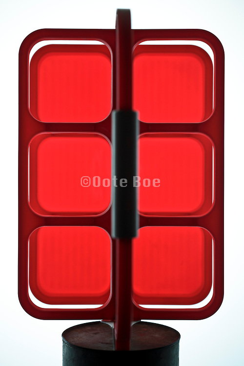 red vintage bottle carrier