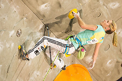 Maja Vidmar (SLO) during women final competition of IFSC Climbing World Cup Kranj 2014, on November 16, 2014 in Arena Zlato Polje, Kranj, Slovenia. (Photo By Grega Valancicr / Sportida.com)