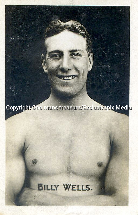 """Amazing images of Britain's best boxers from the 1920's<br /> <br /> From the 1920s up until World War 2 cigarette companies, sporting magazines and boys' weeklies included real photo cards of sports stars to collect and swap. These photos of British boxers come from magazines like The Champion, The Magnet and Boy's Friend and cigarette companies such as Senior Service and Ogdens.<br /> <br /> Photo shows: """"Bombadier"""" Billy Wells: The more famous Bully Wells was one of the great heavyweights of the 1910s, winning the British and Empire titles but losing twice to the legendary Georges Carpentier. After 52 fights his looks were intact enough for him to have a brief acting career. Perhaps his best known role was that of the man striking the gong at the beginning of Rank films in the 1930s.<br /> ©One mans treasure/Exclusivepix Media"""