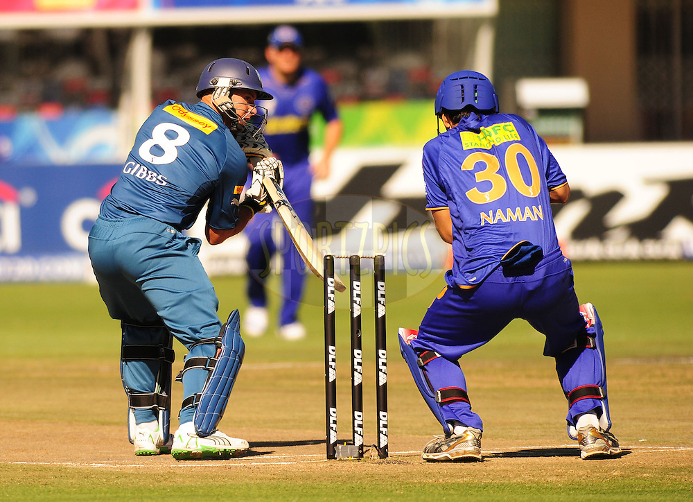 PORT ELIZABETH, SOUTH AFRICA - 2 May 2009.  Gibbs steers one pasd wicket keeper Naman,during the  IPL Season 2 match between the Deccan chargers vs Rajasthan Royals held at St Georges Park in Port Elizabeth , South Africa.