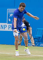 Tennis - 2017 Aegon Championships [Queen's Club Championship] - Day Three, Wednesday<br /> <br /> Men's Singles: Round of 16 _ Tomas Berdych (CZE) Vs Denis Shapovalov (CAN)<br /> <br /> Stefan Kozlov (USA) in action on Centre Court at Queens Club<br /> <br /> COLORSPORT/DANIEL BEARHAM
