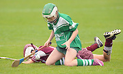 to touch or not.... Roisin Howard Cahir(Tipp) in the Camoige Division1 final at Pearse Stadium during the Feile na Gael 2011. Photo:Andrew Downes