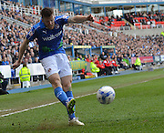 Reading's Jamie Mackie on the ball during the Sky Bet Championship match between Reading and Blackburn Rovers at the Madejski Stadium, Reading, England on 11 April 2015. Photo by Mark Davies.