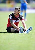 Fussball  Regionlaliga Suedwest 2019/2020   3. Spieltag    TSG Balingen - FC Astoria Walldorf   10.08.2019 Enttaeuschung; Daniel Seemann (TSG Balingen) am Boden
