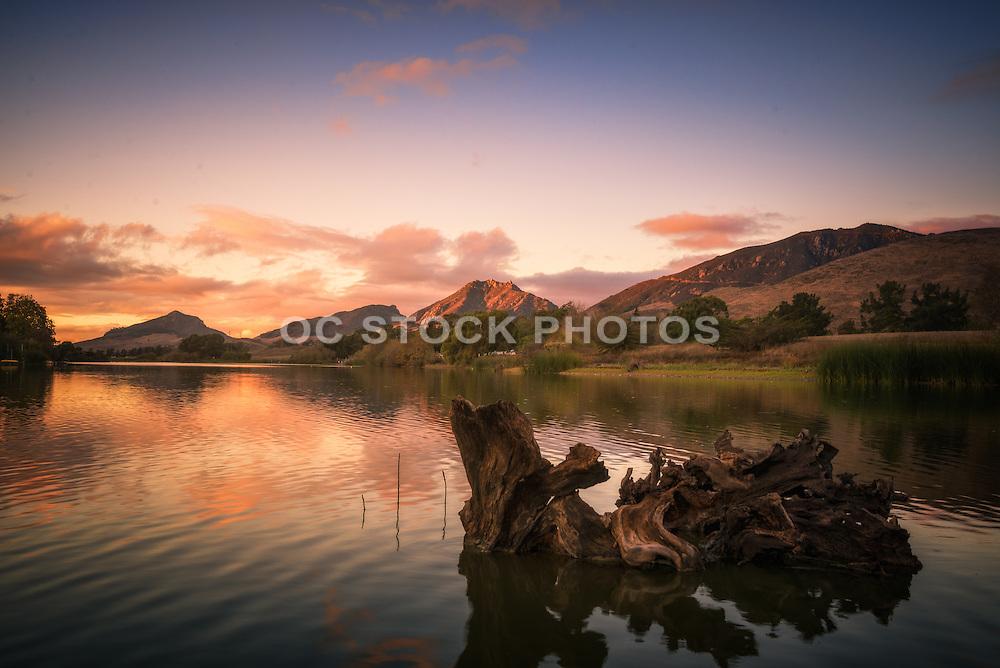 Laguna Lake in San Luis Obispo at Sunset