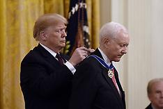 US President Donald Trump presents the Presidential Medal of Freedom - 16 Nov 2018